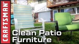 How To Clean Outdoor Patio Furniture by How To Use A Pressure Washer To Clean Patio Furniture Craftsman