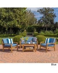 Outdoor Furniture Finish by Halloween Special Grenada 4 Piece Outdoor Wood Chat Set W