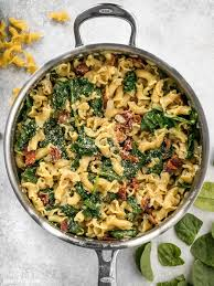 Pasta Recipes Bacon And Spinach Pasta With Parmesan Budget Bytes