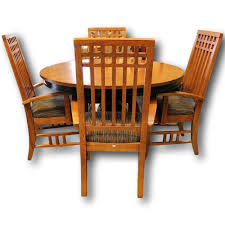 mission style dining table with 4 chairs upscale consignment
