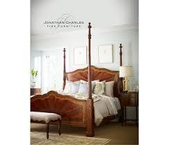 mahogany four post bed us king