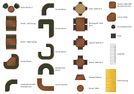 Interior Design Symbols For Floor Plans by Restaurant Floor Plans Software Design Your Restaurant And