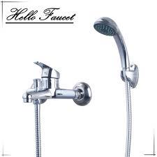 luxury hand shower set chrome polished bathroom shower set faucet