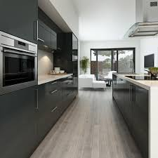 Dark Grey Cabinets Kitchen Maida Gloss Dark Grey Can Create A Modern Look For Any Kitchen