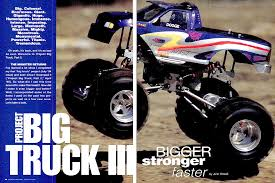 monster truck bigfoot 5 kev u0027s bench top 5 project monster trucks rc car action