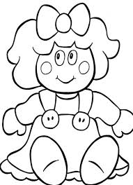 christmas coloring page doll for present christmas coloring