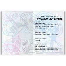 folded invitation passport birthday party folded invitation