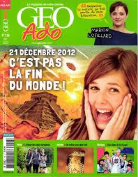 Géo Ado Le magazine de notre planète  dans Magazines