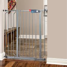 Pressure Mounted Baby Gate Amazon Com Regalo Deluxe Easy Step Extra Tall Gate Platinum Baby