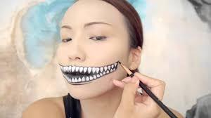 freaky cheshire cat makeup tutorial halloween 2014 makeup