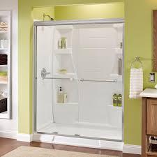 Interior Frameless Glass Door by Delta Crestfield 60 In X 70 In Semi Frameless Sliding Shower