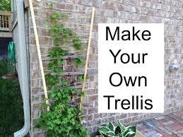 make your own trellis youtube