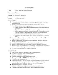 Resume Job Profile by Resume Summary For Warehouse Worker Template Design