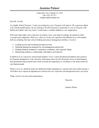 Writing A Cover Letter For An Internship Leading Professional Treasurer Cover Letter Examples U0026 Resources