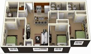 3 bedroom flat plan and design simple house plans without garage