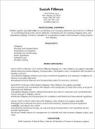 Career Goals Examples For Resume by Professional Logistics Specialist Resume Templates To Showcase