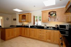 unfinished oak kitchen cabinets in the raised panel door style