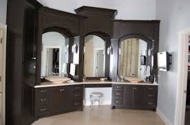 custom made bathroom cabinets in black finish home interior