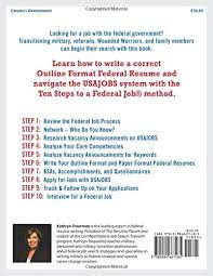 Sample Federal Government Resume by Jobseeker U0027s Guide Ten Steps To A Federal Job For Military