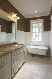 bathroom elegant bathroom decorating ideas with wainscoting in