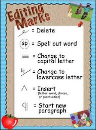 IRIS   Page    POW TREE Writing Strategy Graphic displaying Editing Marks