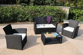 Wicker Outdoor Furniture Sets by Desig For Black Wicker Patio Furniture Ideas 20042