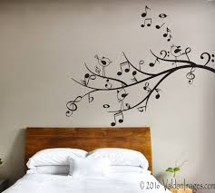 Bedroom Wall Decals Trees Music Tree Wall Decal Bird Wall Decal Music Decor Living