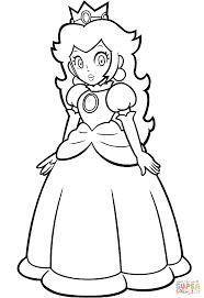 princess peach coloring pages super mario princess peach coloring