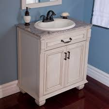 White Bathroom Vanity With Granite Top by Wonderful Vintage Bathroom Vanity White Using Antique Furniture