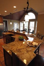 perfect kitchen island with bar seating on sophisticated white for