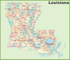 Washington Dc Usa Map by Road Map Of Louisiana With Cities
