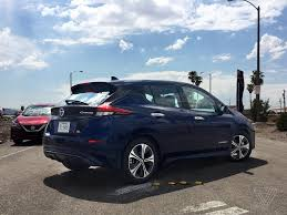 nissan leaf vs chevy bolt 2018 nissan leaf first drive better without branching out the verge
