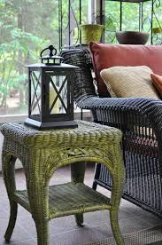 Painting Wicker Patio Furniture - remodelaholic fabulous finish wicker table revamped guest post