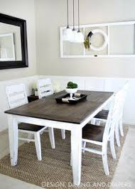 Ideas For Dining Room Table Decor by Coffee Table Chalk Paint Makeover Little House On The Corner