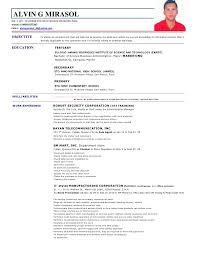sample of resume with job description Anant