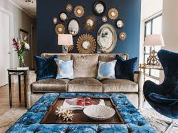 decoration charming dark blue lounge chair gold theme sofa with