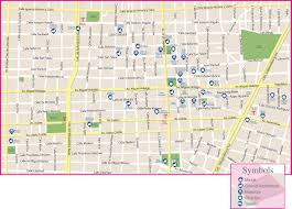 Mexico Cities Map by Guadalajara Historic City Center Map