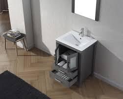 24 Inch Bathroom Vanity Combo by Virtu Usa Dior 24 Single Bathroom Vanity Set In Zebra Grey