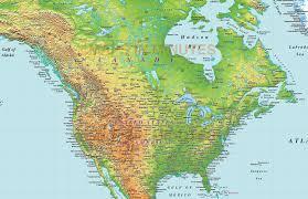 N America Map by Digital Vector North America Medium Relief Map In Illustrator Cs
