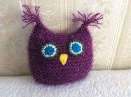 handmade cute toy owl amigurumi purple gift for owl