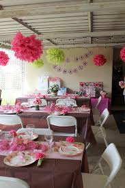 pink and brown themed party decorations for baby shower baby boy