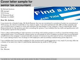 Tax Accountant Sample Resume by Senior Tax Accountant Cover Letter