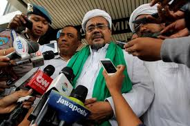 Jakarta     s Governor election is a test for moderate Islam and     ABC Indonesia Election Preview  Habib Rizieq  the spiritual leader of the Islamic Defenders Front