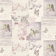 Shabby Chic Pink Wallpaper by Shabby Chic Vintage Bird Cage Wallpaper Mauve Blue Pink Patchwork