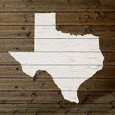 Texas Map Outline Map Of Texas State Outline White Distressed Paint On Reclaimed