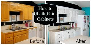 Ceramic Kitchen Backsplash Diy Painting Oak Kitchen Cabinets With White Chalk Paint Before