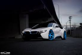 Bmw I8 White - boostaddict rolling white bmw i8 on 22 inch electric blue
