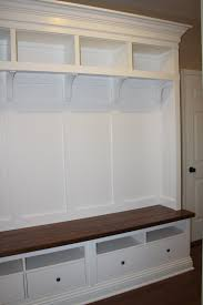 furniture mudroom benche with olen shelves and bench using shoe