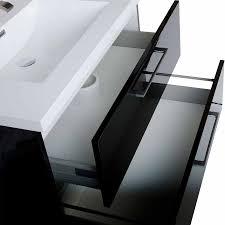 34 Inch Bathroom Vanity by Wall Mount Bathroom Vanity Black High Gloss Tn Ta860 Hgb