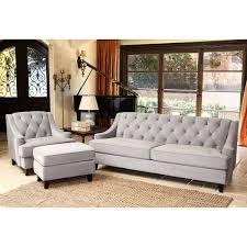 tufted sofa abbyson living rl 1450 bge 3 emily velvet fabric tufted sofa